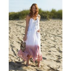 Fair Trade Ombre Maxi Dress Tie Dye Pink and White Sequins Cotton (€45) ❤ liked on Polyvore featuring dresses, black, women's clothing, black sequin dress, black boho dress, tie dye maxi dress, black ruched dress and sequin maxi dress