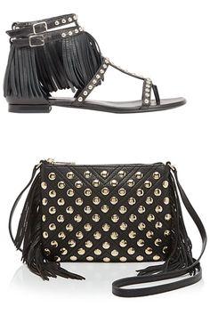 Saint Laurent shoes, $995, barneys.com; Rebecca Minkoff bag, $225, bloomingdales.com   - HarpersBAZAAR.com