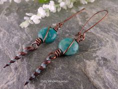Russian Amazonite Mykonos Spikes and Solid by PattiVanderbloemen, $26.00