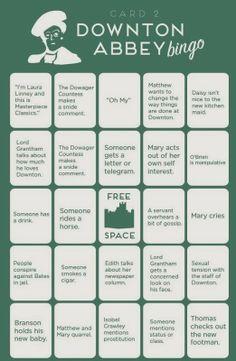 Pine Cones and Acorns: Downton Abbey Countdown 2 Days bingo