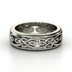 Alhambra Band, Men's Sterling Silver Ring from Gemvara