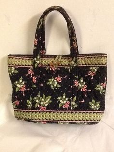 45068e2b3815 Vera Bradley New Hope Toggle Handbag Tote Shopper Breast Cancer Green Pink   VeraBradley  ShoulderBag