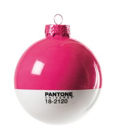 Pantone Christmas Glass Ball in Honey Suckle design by Seletti