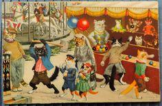 Vintage Mainzer Cats Postcard 4683, ©Max Kunzli