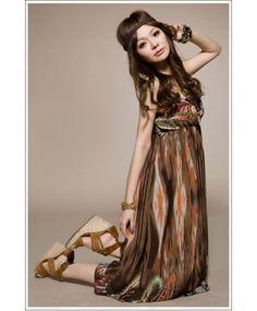 Jual long dress korea ready stock image