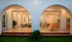 Gallery of Ngôi Nhà Nhỏ / Người Xây Tổ Ấm - 13 Open Space Architecture, Greek House, Bathroom Lighting, Chill, Mansions, Mirror, House Styles, Home Decor, Bathroom Light Fittings