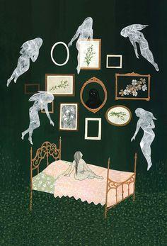 Juxtapoz Magazine - An Update with Dan-ah Kim Deviantart Drawings, Psy Art, Witch Art, Dark Art, Art History, Contemporary Art, Images, Illustration Art, Gallery Wall
