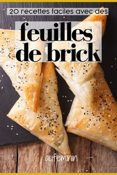 For flaky, crisp and light dishes, think brick leaves! A slippers, oriental pastries and delicious samosas: easy dishes with our recipes. Phyllo Dough Recipes, Pastry Recipes, Buttermilk Banana Bread, Banana Bread Recipes, Samosas, Easy Appetizer Recipes, Veggie Recipes, Brick Pastry, Recipes
