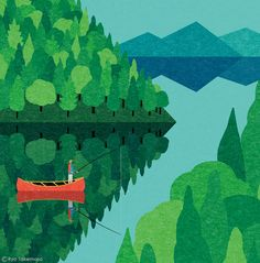 Japanese illustrator Ryo Takemasa is a pro at creating tranquil landscapes that depict the beauty of grandiose settings.