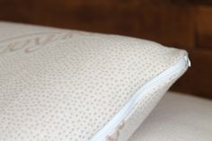 Our luxurious natural Talalay formed latex pillow offers responsive support. A plush knit organic cotton cover enhances the comfort.