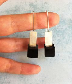 Sterling silver earrings ref.10212-4 geometric by carlaamaro