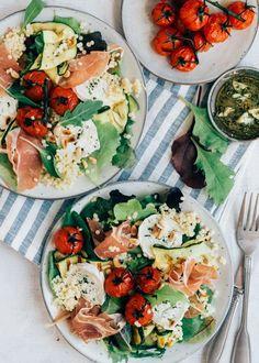 Easy Salad Recipes, Easy Salads, Healthy Recipes, I Love Food, Good Food, Salade Healthy, Healthy Diners, Salade Caprese, Food Inspiration