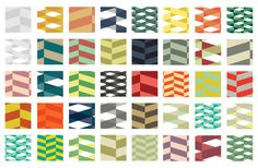 50 Free Herringbone Illustrator Pattern Swatches