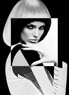 Fashion Magazine 'High Contrast' - The Fashion Magazine 'High Contrast' editorial is aptly named. It is filled with bold black and white graphics that are enhanced by equ...