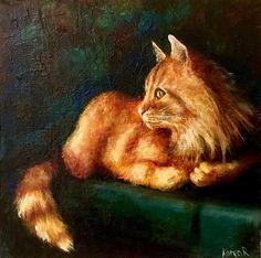"Daily Paintworks - ""The Insomniac"" - Original Fine Art for Sale - © Karen Robinson"