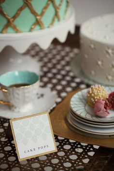 absolutely perfect color palette of aqua, mint, watermelon pink, and gold; desserts by Brown Betty Dessert Boutique; and exceptional styling by Styled Creative; photography by Alison Conklin