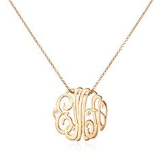 I want a monogram necklace like this... badly.  (With my NEW initials (post 9.22.12) of course...)  ;-)