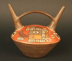Materiales: Cerámica  Periodo: 700 - 1100 dC  Medidas: 155 mm de alto  Código de pieza: MCHAP 0299  Ver cultura Wari