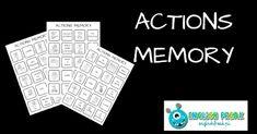 English Freak | Blog o nauczaniu języków obcych: ACTIONS MEMORY (PRINTABLES)