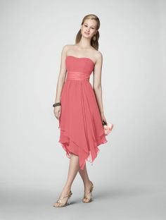 Alfred Angelo Coral Bridesmaid Dress