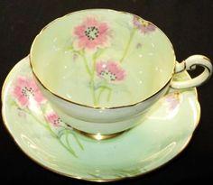 Paragon Artsy Mauve Pink Flower Tea Cup and Saucer Teacup   eBay