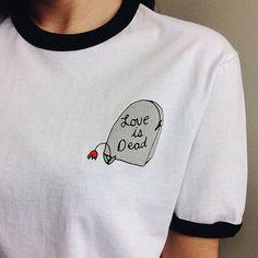 I Love Cyber Shopping — Love is Dead Ringer Tee GO TO WEBSITE