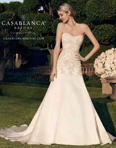 Casablanca Bridal Style 2166 offered at Something White Bridal Boutique!
