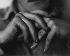 Hands of Richard Buhlig, an American pianist, photo by Johan Hagemeyer, 1949
