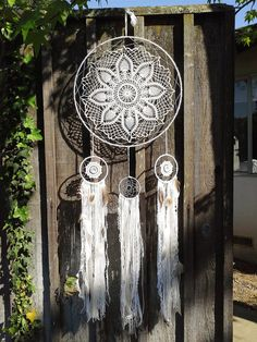 Huge Multi-Tiered Doily Dream Catcher. Boho by StylishStuffBySteph
