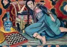 Odalisque accoudée à une chaise turque, par Henri Matisse