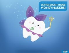 I love how the tooth is a tooth-fairy