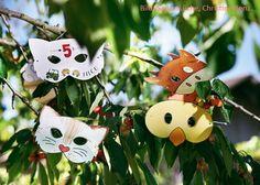 Tiermasken als Einladungskarten für den Kindergeburtstag
