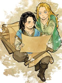 one day I'll build a city by luthienelf.deviantart.com on @DeviantArt (Awwww... little Turgon and Finrod… <3)