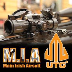 UTG at M.I.A Main Irish Airsoft have a great selection of Military style scops, lasers and red dots