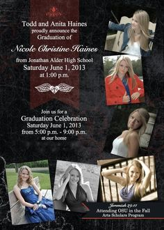 Graduation Announcements Made Easy With My Digital Studio #MDS #digi #graduation #StampWithAnita