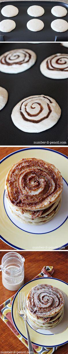 Cinnamon Roll Pancakes ! okay...too good~