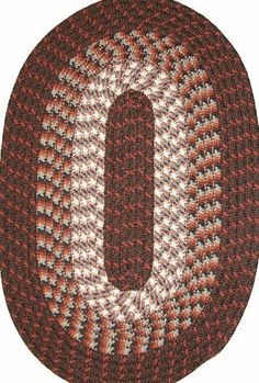 Hometown 5' x 8' Braided Rug in Dark Walnut by Constitution Rugs LLC. $119.95. Rugged Tubular Braid Construction. 100% Nylon BCF surface yarns. Manufactured 100% in the U.S.A. Reversible for added wear. Stitched with Polyester sewing thread. Our longest selling tubular braid product! Complementary colors both bright and muted are carefully blended into this truly colonial styled rug. Bring the warmth of New England into your kitchen, den or bedroom!