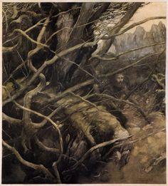 "templeofapelles: "" Illustration from the Mabinogion Alan Lee """