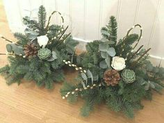 Christmas Arrangements, Christmas Centerpieces, Floral Arrangements, Christmas Decorations, Holiday Decor, Handmade Decorations, Flower Decorations, Christmas Wreaths, Xmas