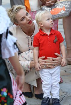 Princess Charlene of Monaco holds Prince Jacques, the heir apparent to the…