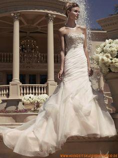 Modische Bodenlange Brautkleider 2013 aus Organza mit Applikation