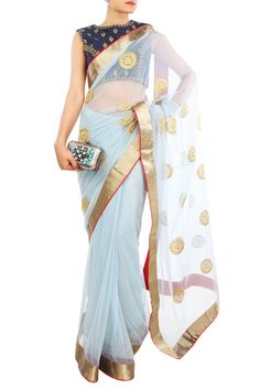 Karieshma Sarnaa | Net and Brocade Saree | SCARLETBINDI.COM
