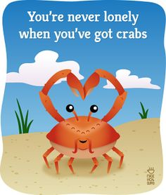 haha k the title might be inappropriate but come on the crab is so stinkin' cute!