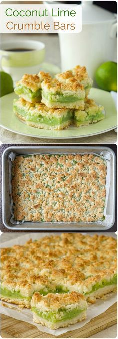 Coconut Lime Crumble Bars #RockRecipes100Cookies4Christmas A tart & sweet lime filling surrounded by a buttery coconut crumble; a naturally delicious flavour combination that really works. Another selection in our growing collection of #RockRecipes100Cookies4Christmas