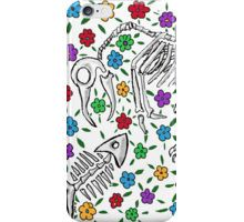iPhone Case/Skin with skeletal Day of the Dead artwork.