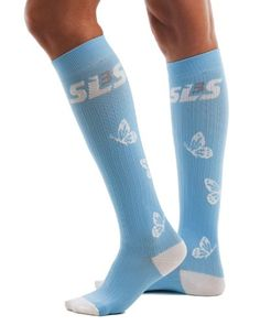SLS3 Womens True Graduated Butterfly Compression Performance Training Race Recovery Socks 1 pair Azure White SM *** Learn more by visiting the image link. (This is an affiliate link) #RunningAccessories