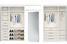 Ikea Pax Closet Design. I LOVE The Idea Of The Mirror In The Middle And