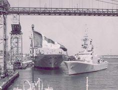 HMCS Bonaventure (CVL 22)  and the HMCS Gatineau (DDE 236) Halifax Harbour