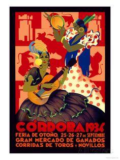 Cordoba, Feria de Otono Posters by Gertrude Leooley at AllPosters.com