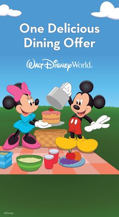 Hope you're hungry for some fun! You can get a FREE Dining Plan when you purchase a non-discounted 6-night/7-day package that includes a room at select Walt Disney World Resort hotels and ticket with Park Hopper or Water Park Fun & More Option. For arrivals select nights Aug. 28 – Dec. 21. Book between April 27 and July 10, 2015.  For more information, see: http://www.buildabettermousetrip.com/free-dining  #FreeDining